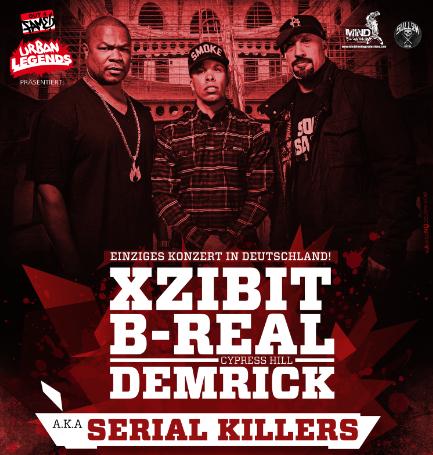 serial killers xzibit b real demrick ende september live in k ln update trailer. Black Bedroom Furniture Sets. Home Design Ideas