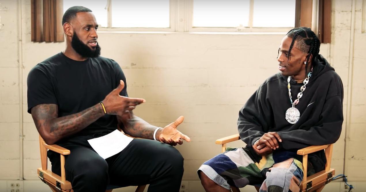 Kings unter sich: LeBron James interviewt Travis Scott