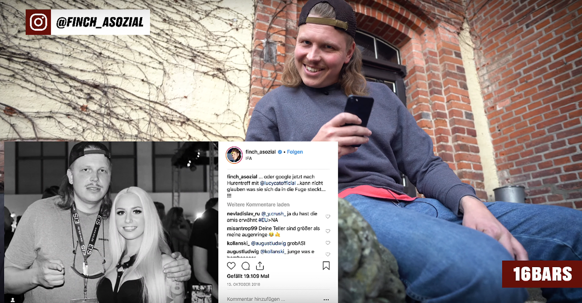 Insta Stories mit Finch Asozial: Lucy Cat, Plusmacher & Eko Fresh
