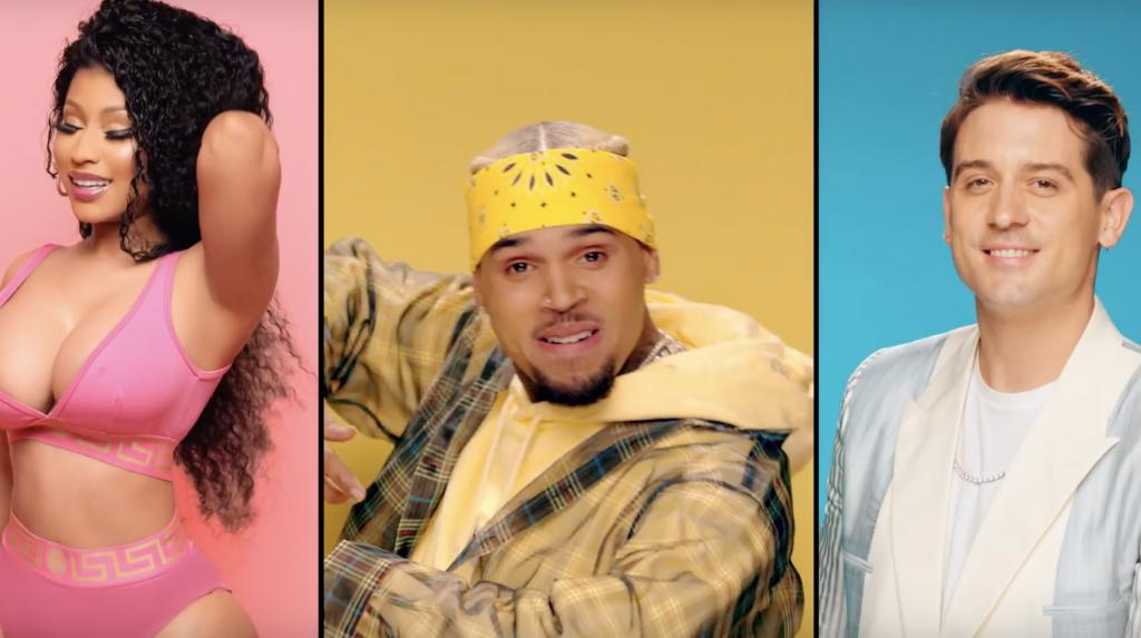 Chris Brown feat. Nicki Minaj & G-Eazy - Wobble Up  16BARS