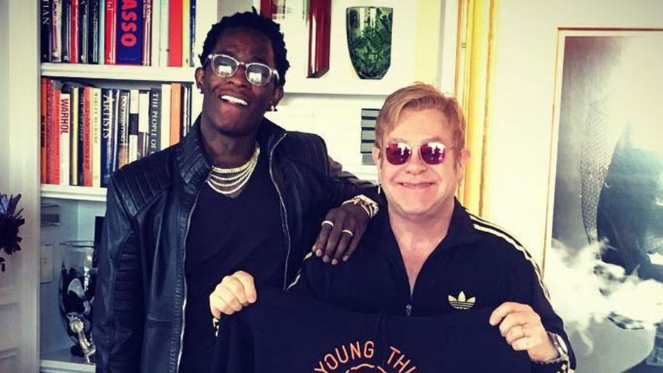"""""""Blown away"""": Elton John beeindruckt von Young Thug   16BARS"""